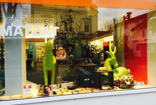 Winterdekoration bei Optiker Matzat