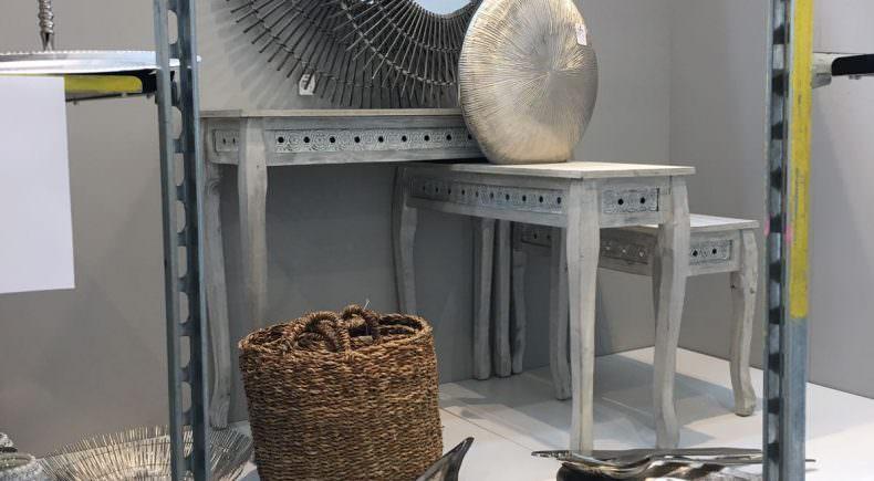 Sortieren Silber,Holz und Körbe