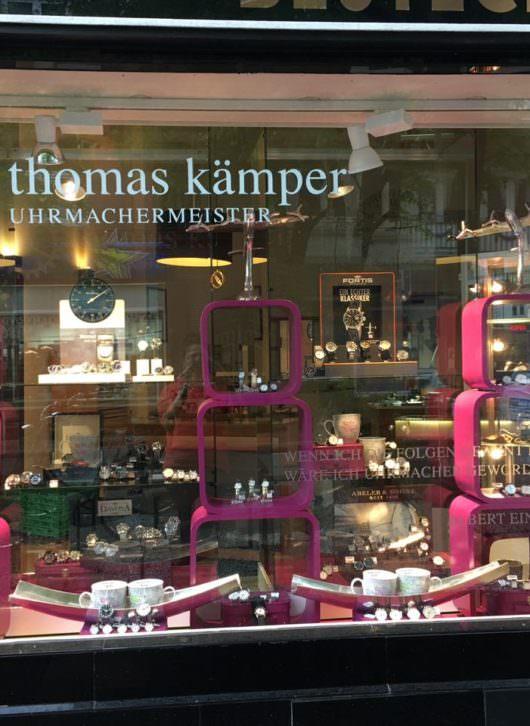 Uhrenmacherei Thomas Kämper -Thema Urlaub